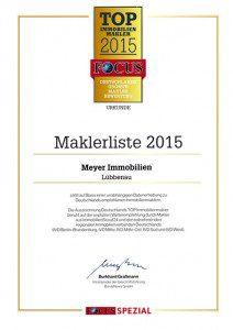 Maklerliste 2015 Focus Burda